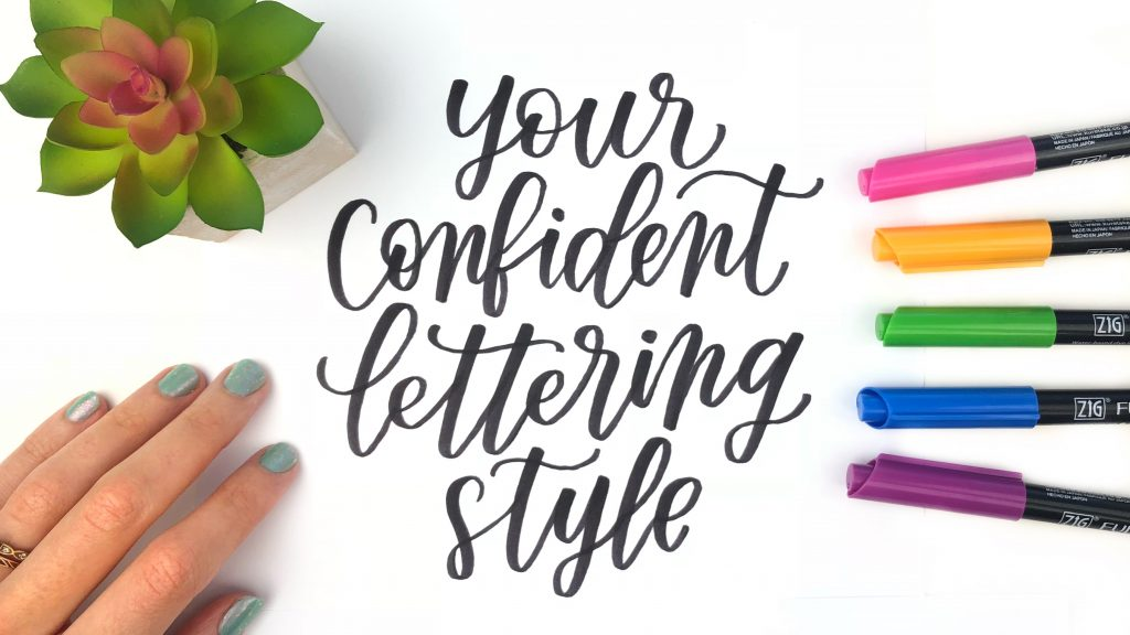 confidentlettering style