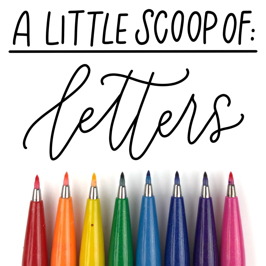 scoop of letters