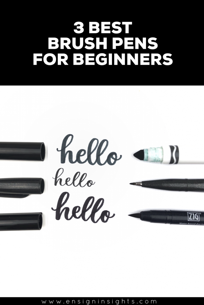 3 Best Brush Pens for Beginners
