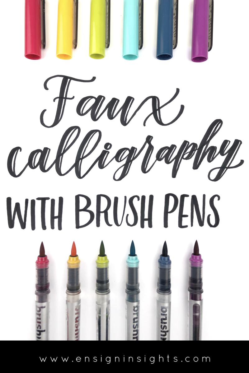 faux calligraphy with brush pens tutorial