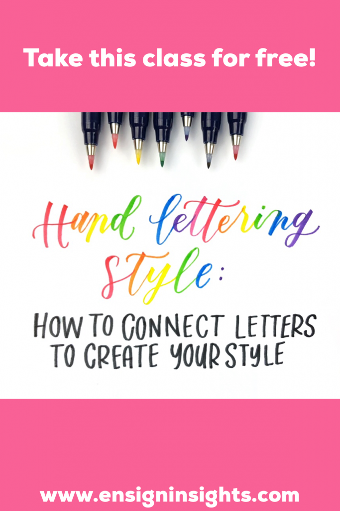 Hand Lettering Style: How to connect letters to create your style