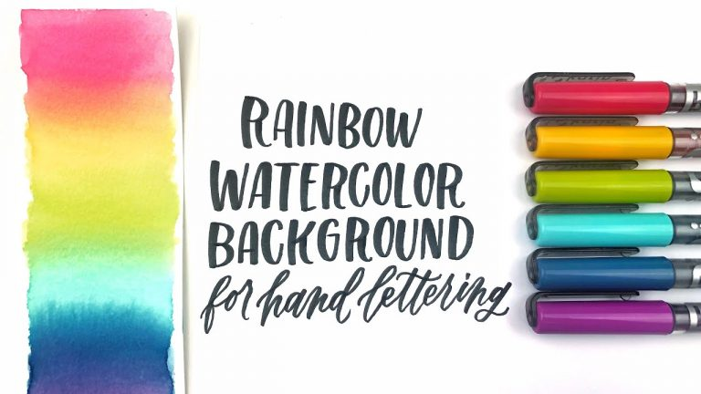 Rainbow Watercolor Background for Hand Lettering