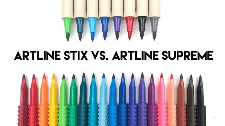 Artline Stix Brush Markers vs Artline Supreme Brush Marker Review