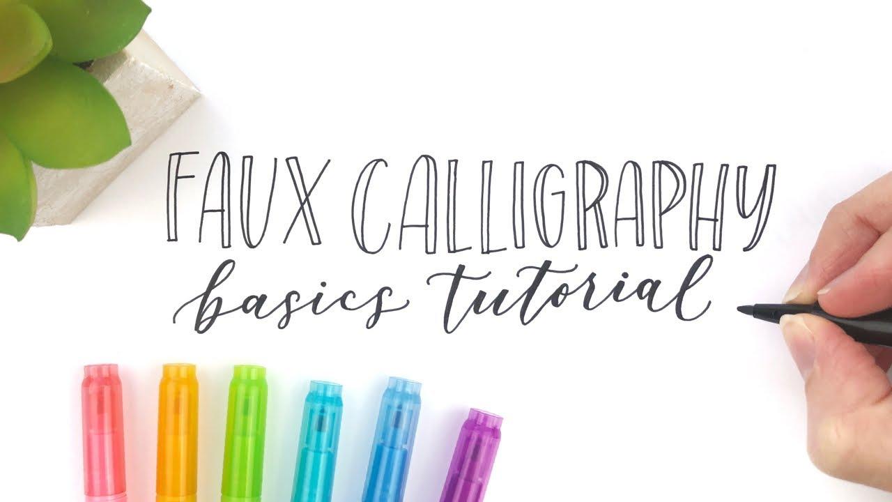 faux calligraphy basics tutorial