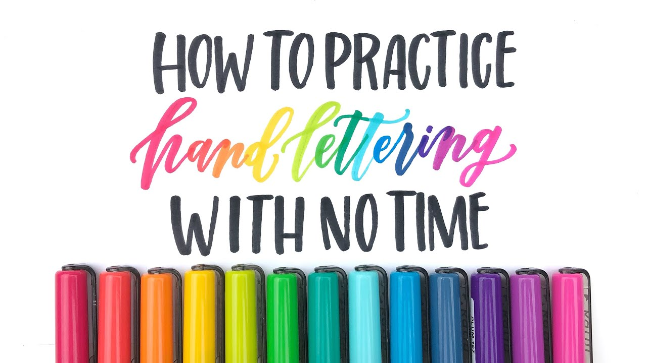 how to practice hand lettering