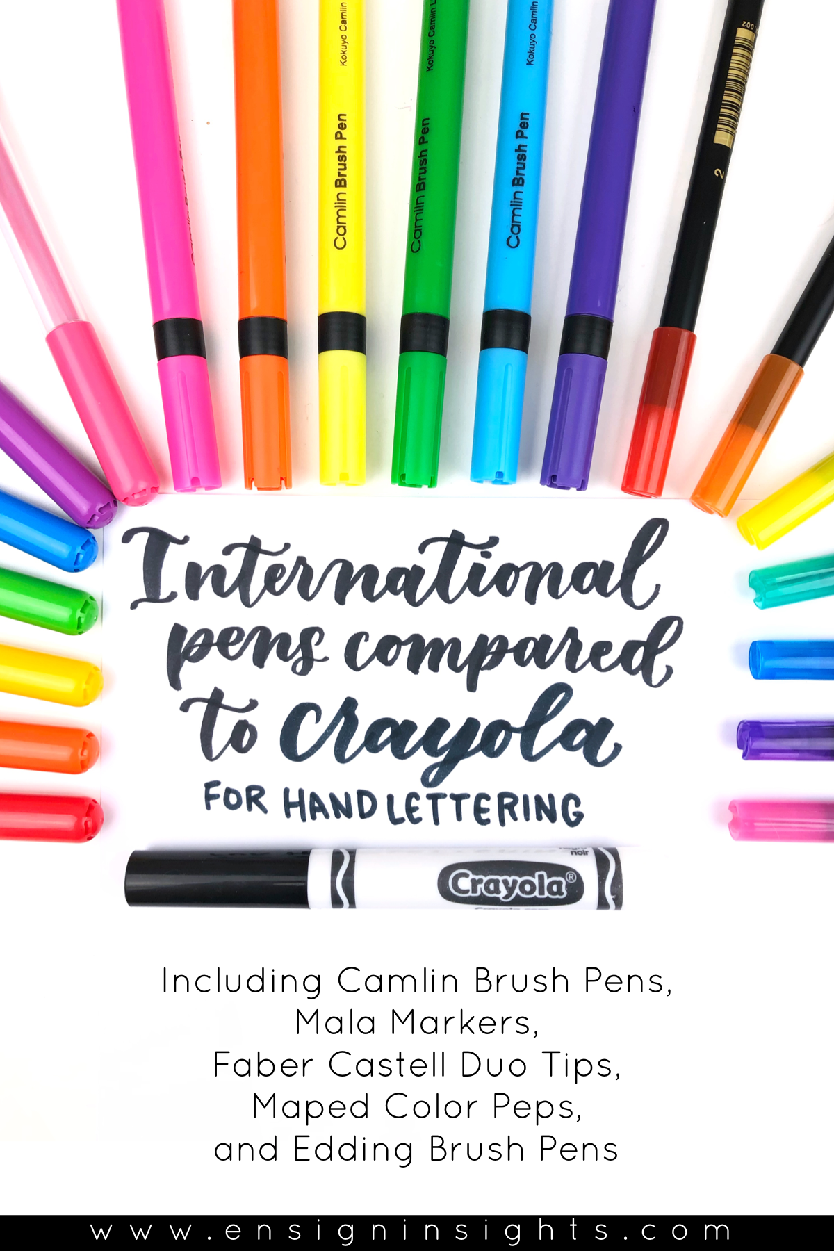 Crayola Markers for Hand Lettering Compared to International Pens