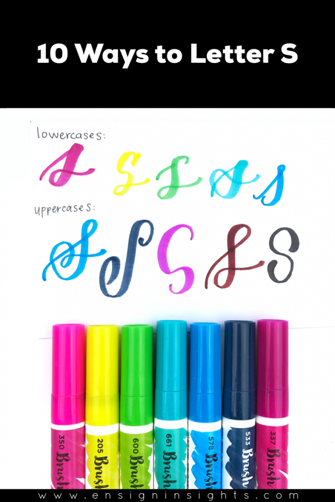 Hand Letter S in Unique Lettering Styles | Ensign Insights