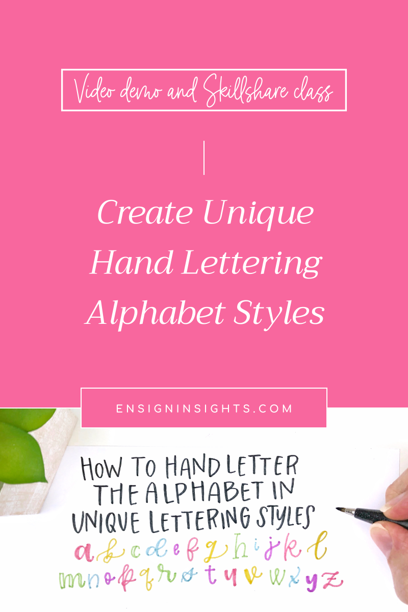 Break away from boring fonts and create unique hand lettering alphabet styles! | Ensign Insights
