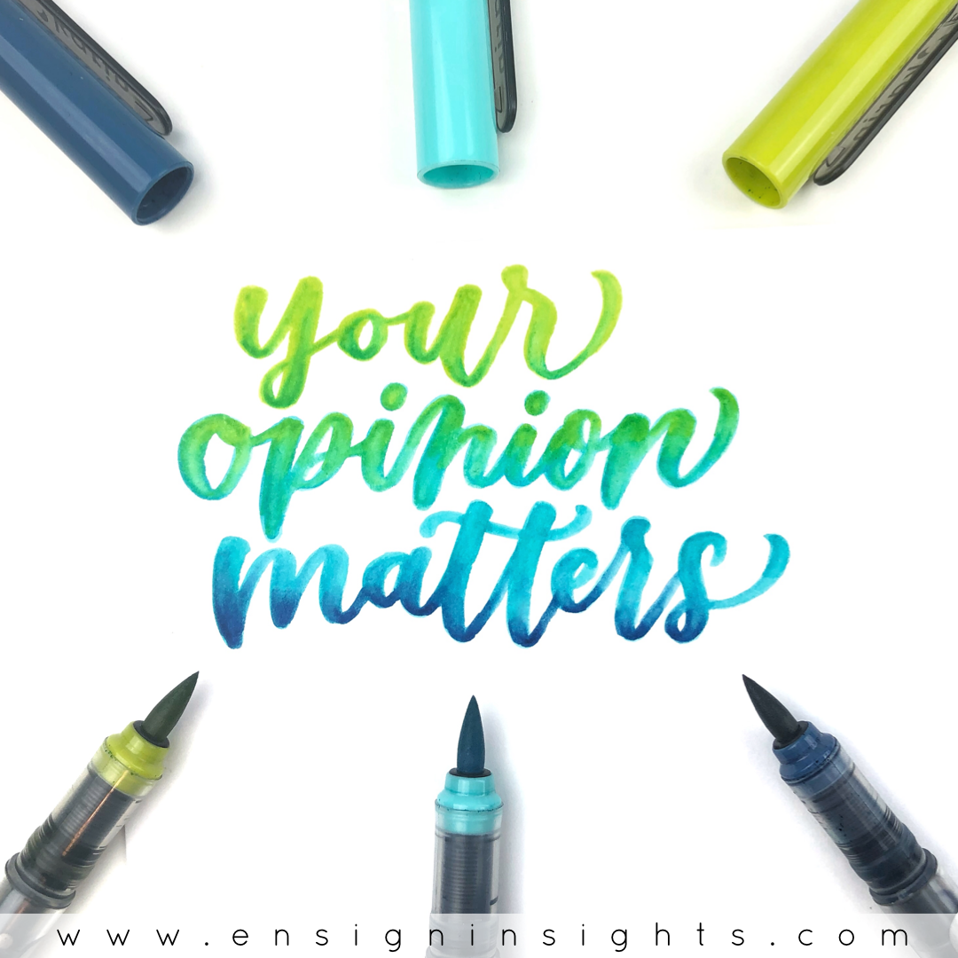What is the best paper for brush lettering and blending brush pens? Paper is important because you need a smooth paper that won't fray your brush pens. In this post I compare different paper options to use with brush lettering and which ones work for blending brush pens as well.   Ensign Insights