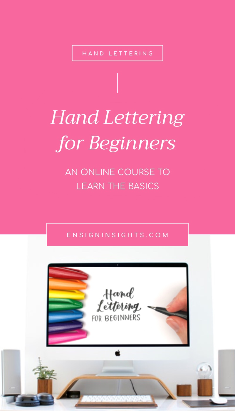 Hand Lettering for Beginners Online Course. Learn lettering with me in this quick and easy class. Learn everything you need to start lettering. | Ensign Insights