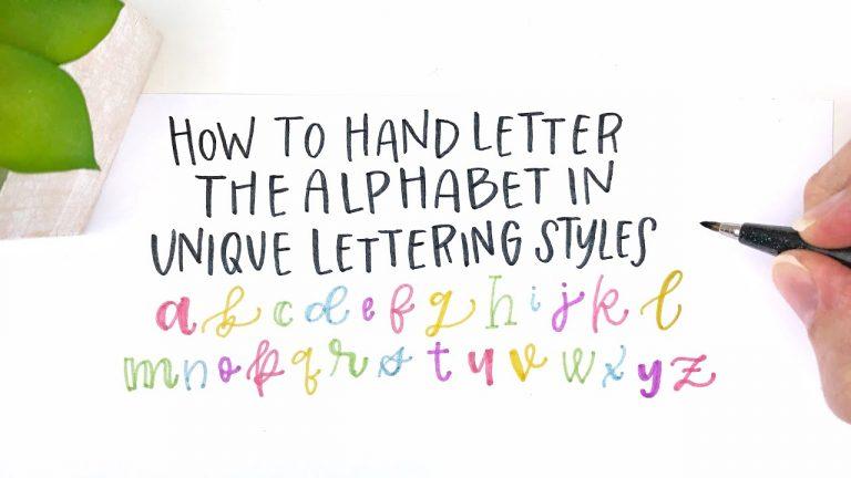 Create Unique Hand Lettering Alphabet Styles