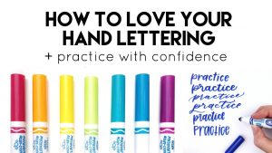 love your hand lettering