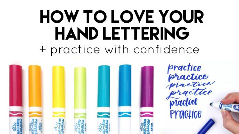 How to Love your Hand Lettering (Free Lettering Practice Worksheets)