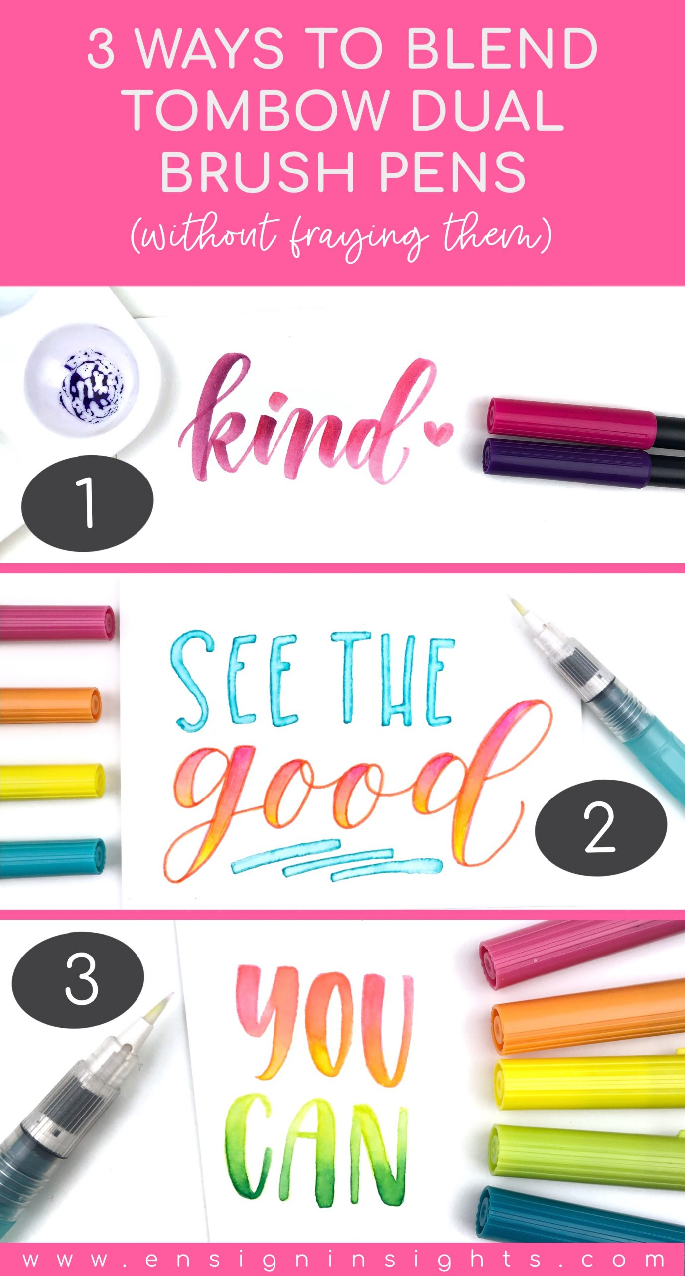 3 Ways to Blend Tombow Dual Brush Pens