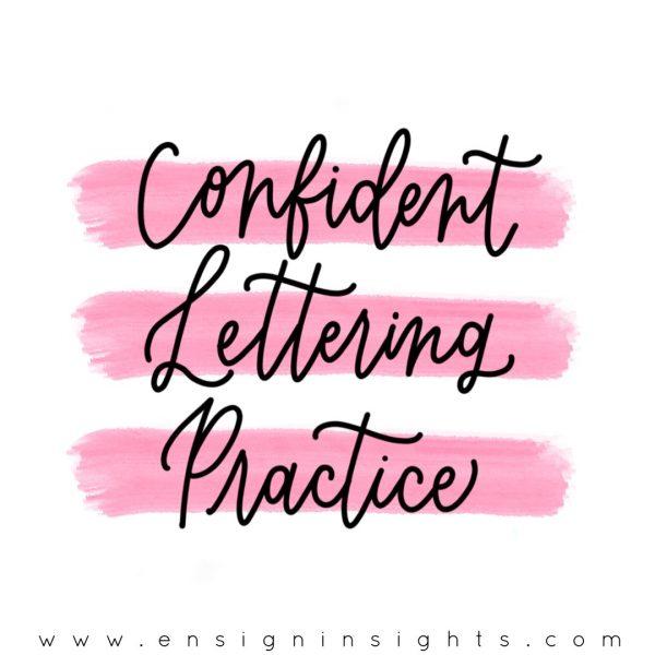 Confident Lettering Practice online course