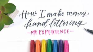 make money hand lettering