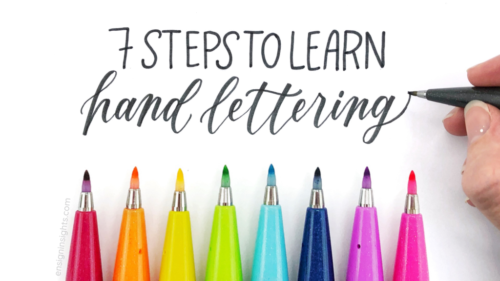 How to Learn Hand Lettering in 2021 | 7 Easy Steps for Hand Lettering Beginners