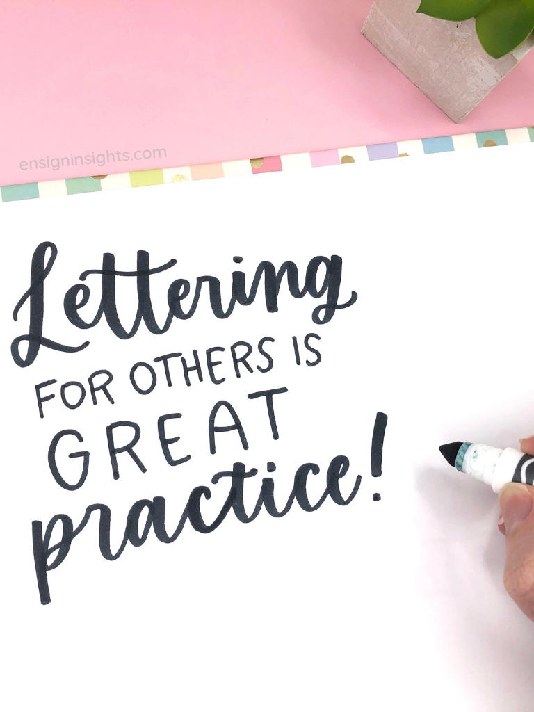 ensign insights; Why You Shouldn't Learn Hand Lettering;  hand lettering for beginners; faux calligraphy; how to learn hand lettering; sarah ensign