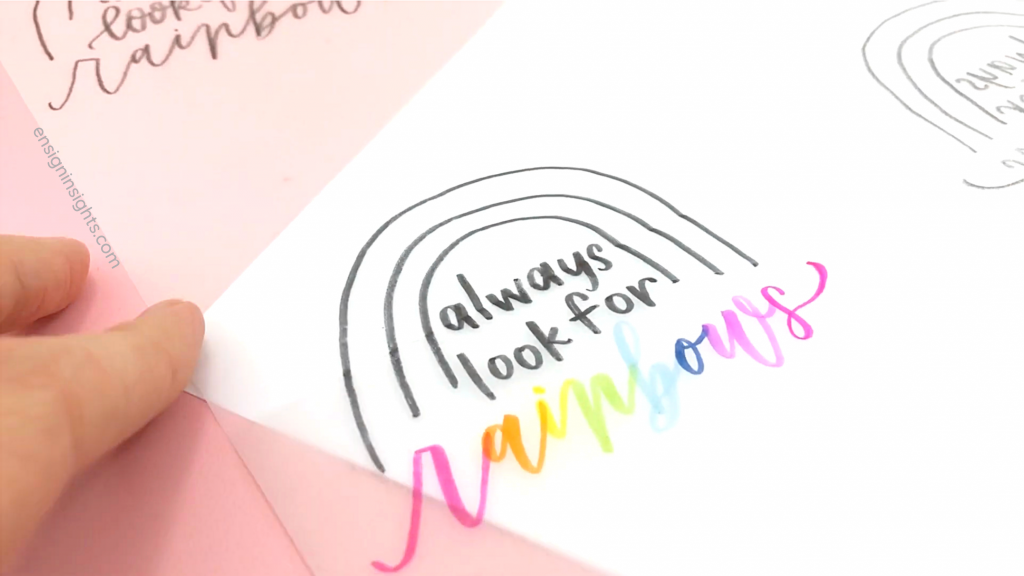 ensign insights; how to lay out a quote for hand lettering;  how to hand letter a quote; how to learn hand lettering for beginners; sarah ensign