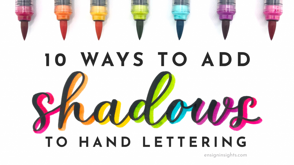 10 Ways to Add Shadows to Hand Lettering