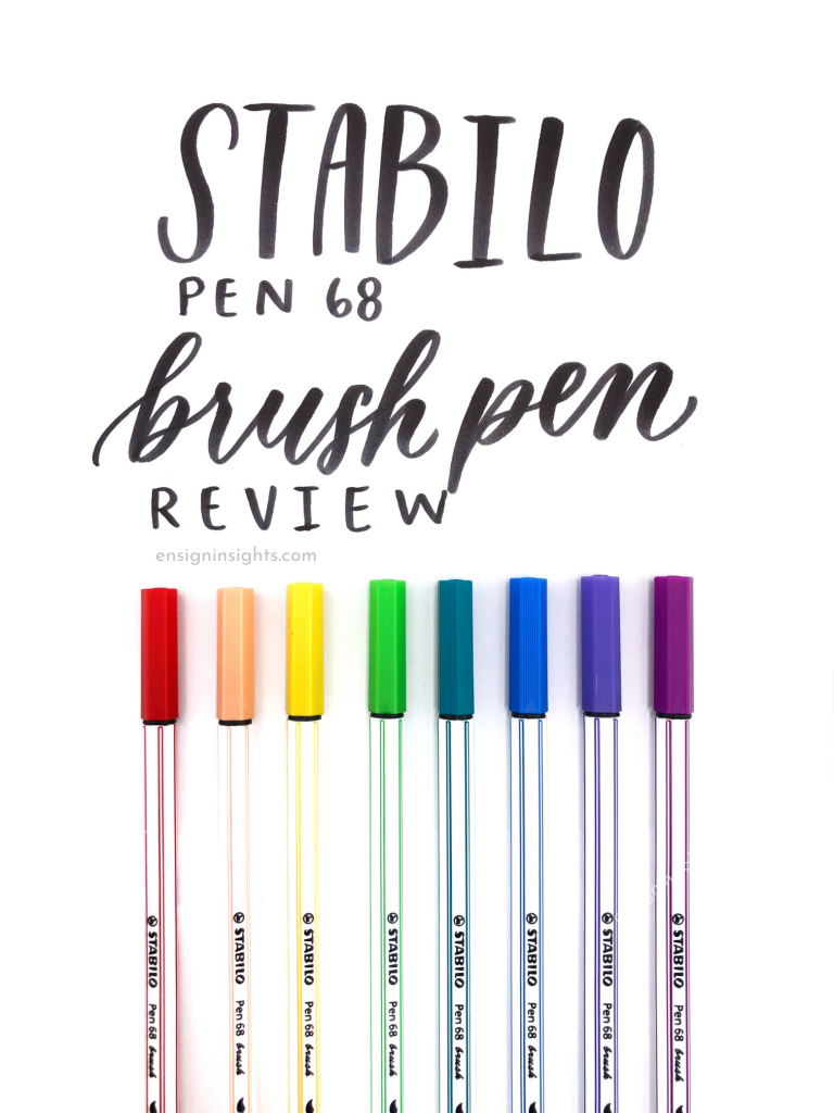 Stabilo Brush Pens Review; How To Learn Hand Lettering for Beginners; hand lettering fonts; bullet journal fonts; learning hand lettering; ensign insights
