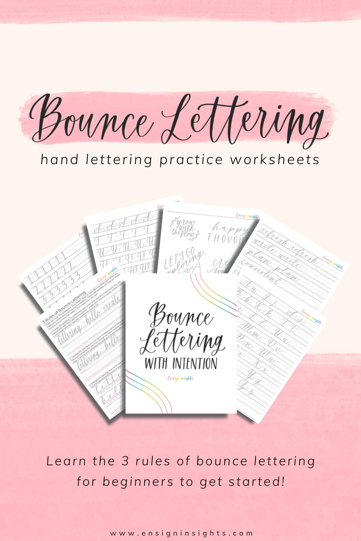 bounce lettering for beginners