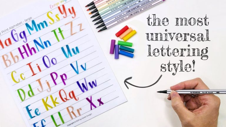 Easy Hand Lettering Alphabet Style For Beginners